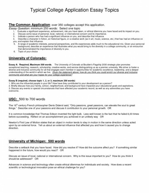 Writing college admissions essay questions 2011